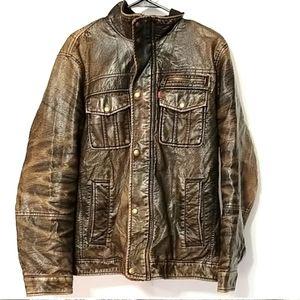 Levi Fleece lined heavy winter coat size Medium